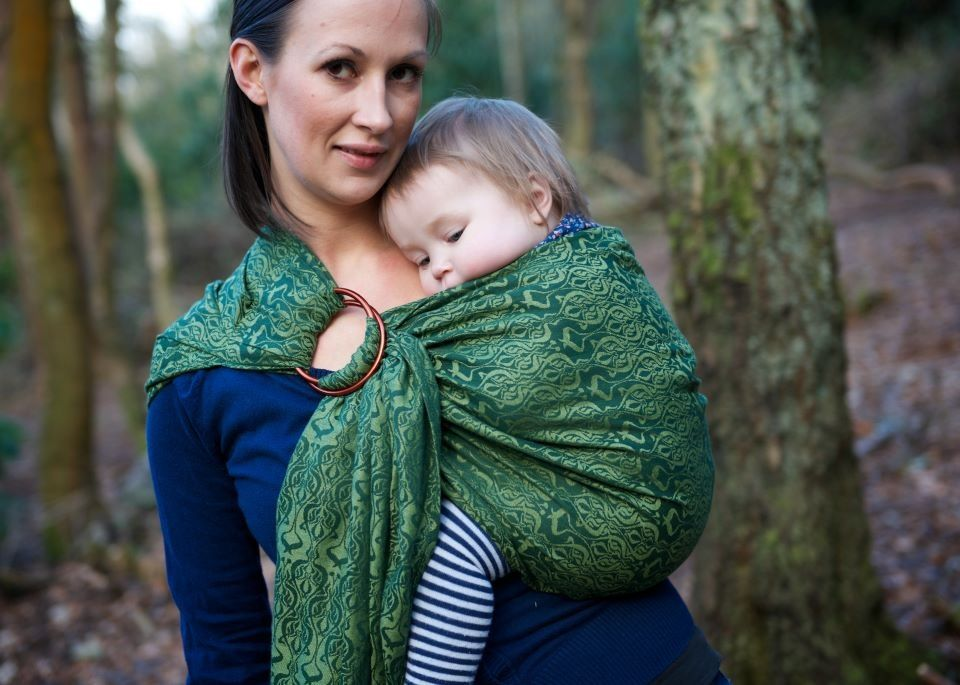 Oscha Nouveau Willow Pleated Ring Sling Bronze Rings Baby Carriers