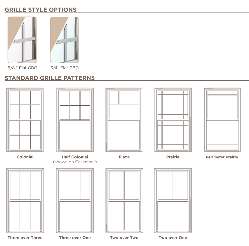 Ply gem windows offer a wide variety of grid styles there for Types of window styles
