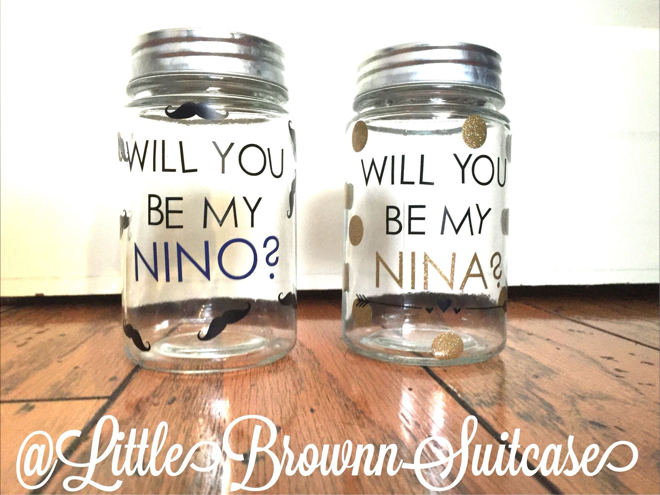 Will you be my Nina / how to ask godparents / will you be my