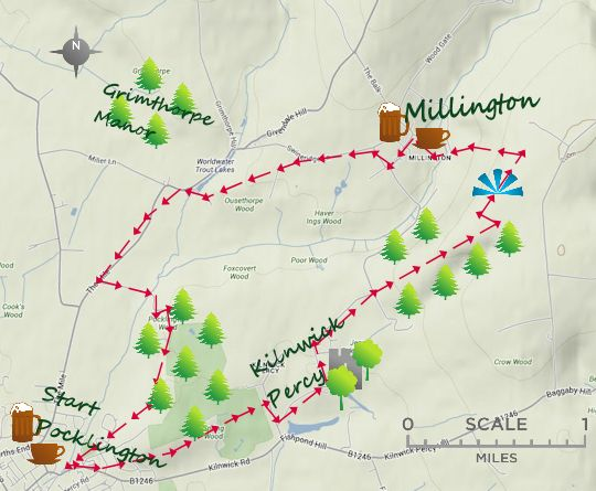 Pocklington & the Wolds Way map | Photography in 2019 | Yorkshire ...