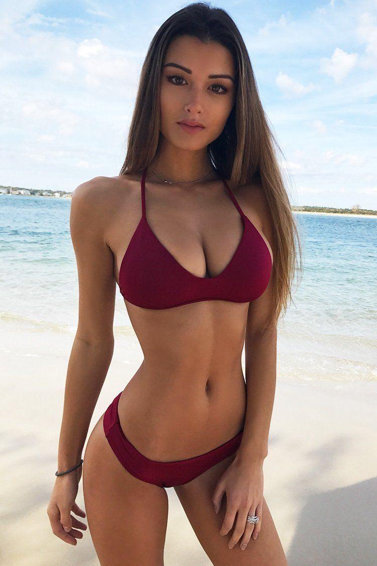 Chicloth Waist Solid Thong Bikinis Set Hot Sale Low