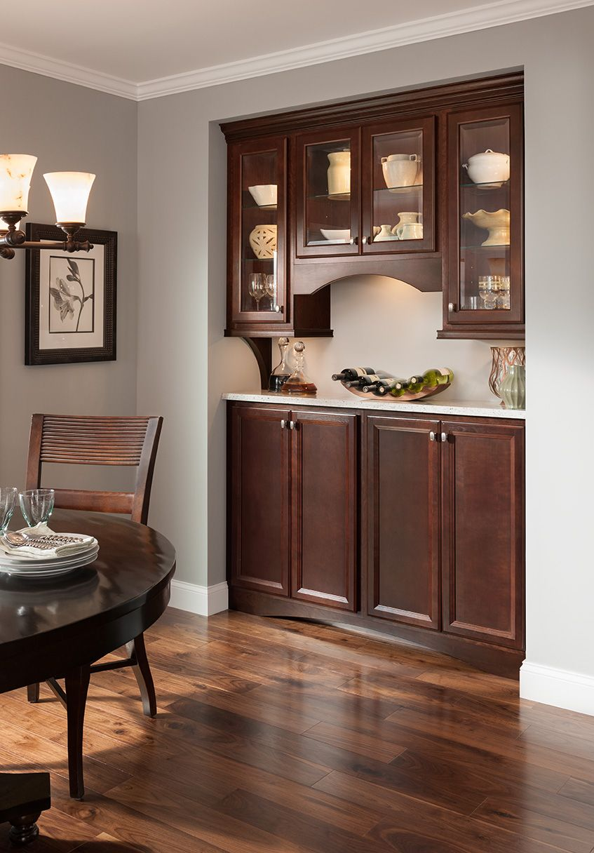 Shenandoah Cabinetry Cherry Bordeaux, Bluemont door | Home ...