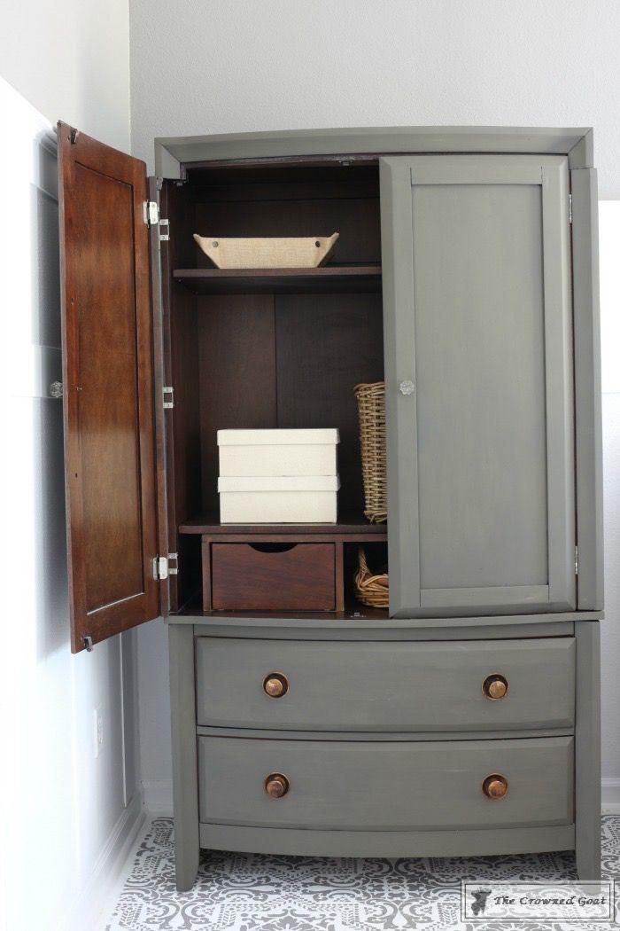 Tv Armoire To Functional Wardrobe Makeover Diy Furniture Redo