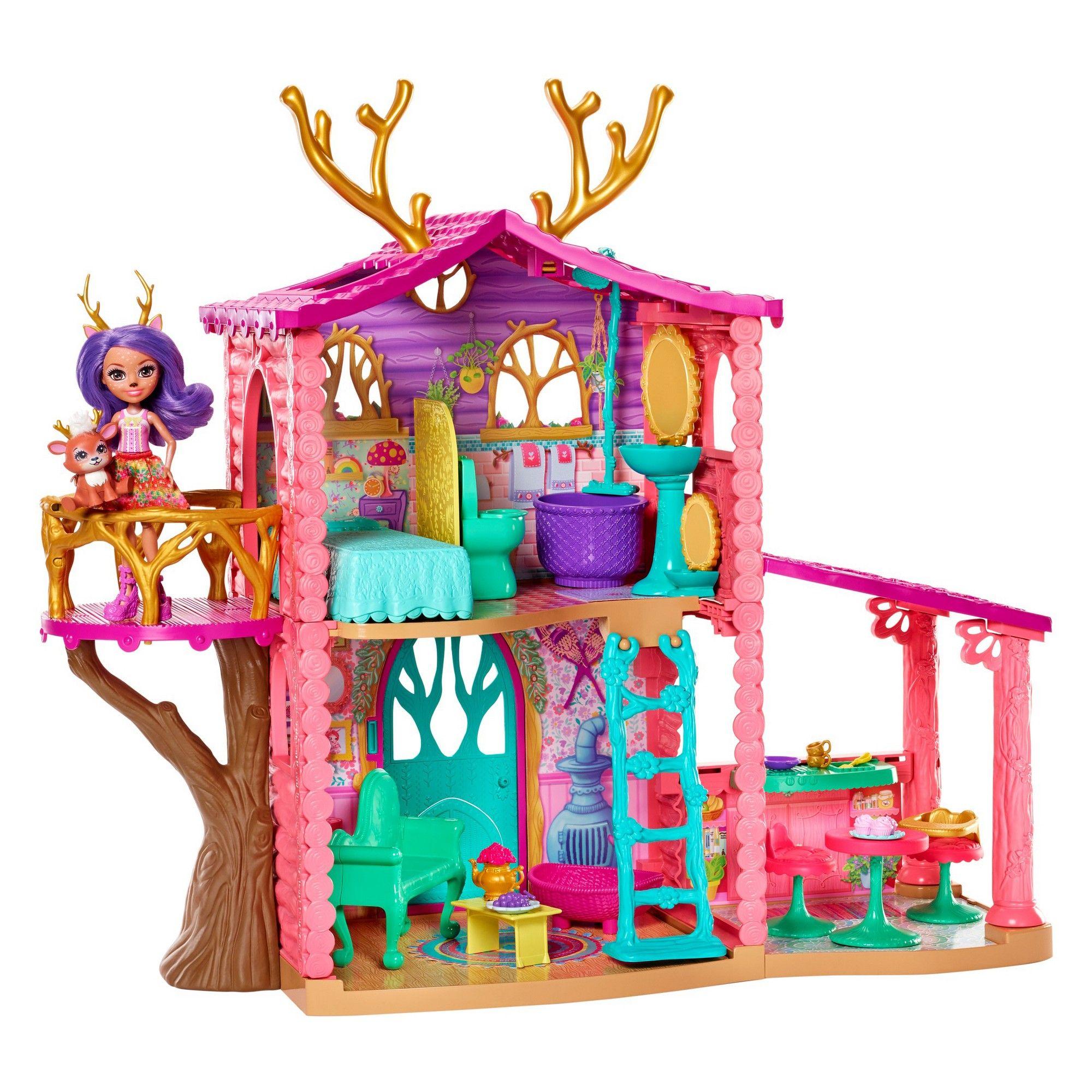 Danessa Deer Doll /& Sprint Figure Enchantimals Cozy Deer House Playset