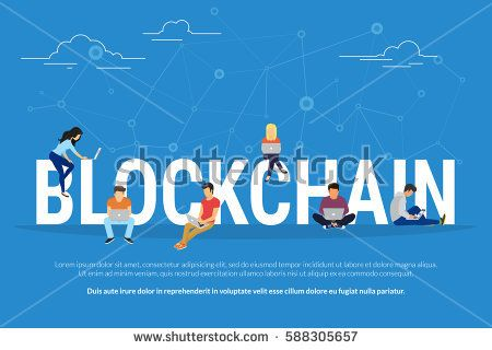 stock-vector-blockchain-concept-illustration-of-young-men-and-women-using-laptop-and-for-database-coding-and-588305657.jpg (450×320)