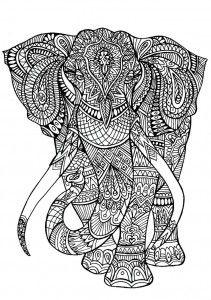 Dibujos Para Colorear Mandala Elefante Ideas For The House