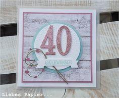 Liebes Papier 40 Ist Das Neue 30 Karte Zum 40 Geburtstag