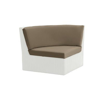 Tropitone Mobilis Corner Chair with Cushion Fabric: Chimayo, Finish: White