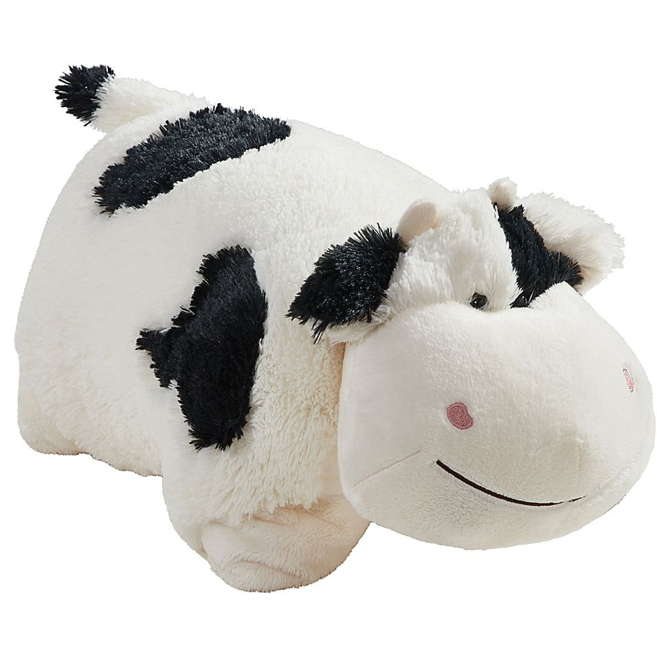 Pillow Pets Comfy Cow Pillow Pet In Black White In 2020 Animal