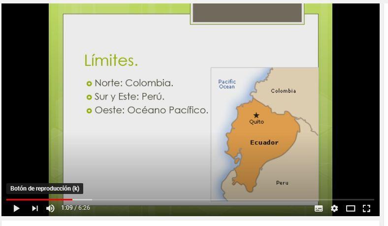 Límites Del Ecuador Ecuador Límites Tema