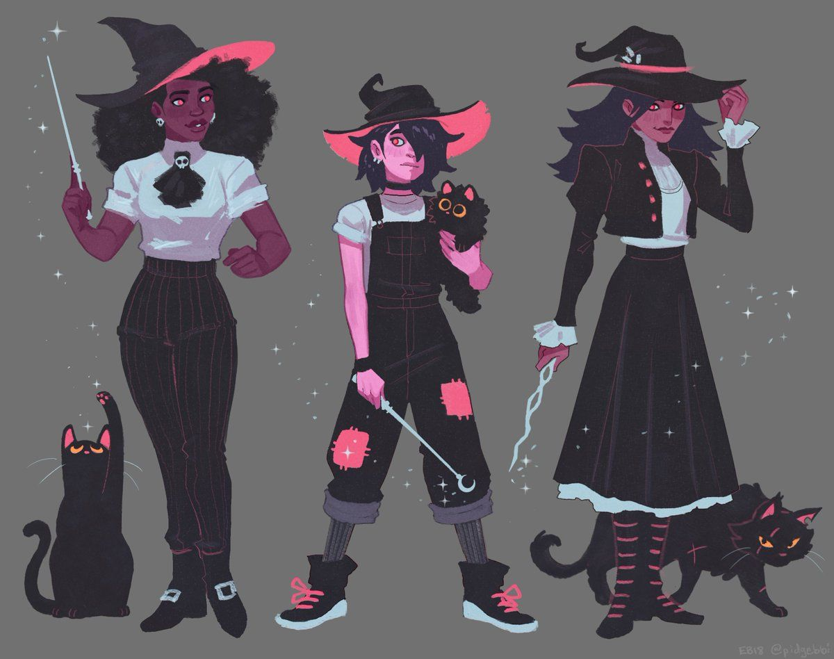 "Nor 🎃 on Twitter ""witches 🖤 … "" Witch art, Witch design"