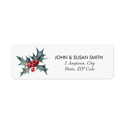 Merry Christmas xmas holiday return address labels - return - Return Address Label Template