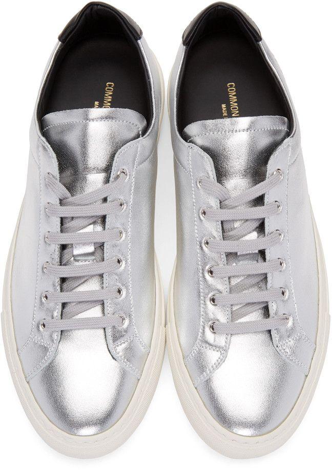 0900e0206e2a9 Common Projects - Silver   Black Achilles Retro Low Sneakers