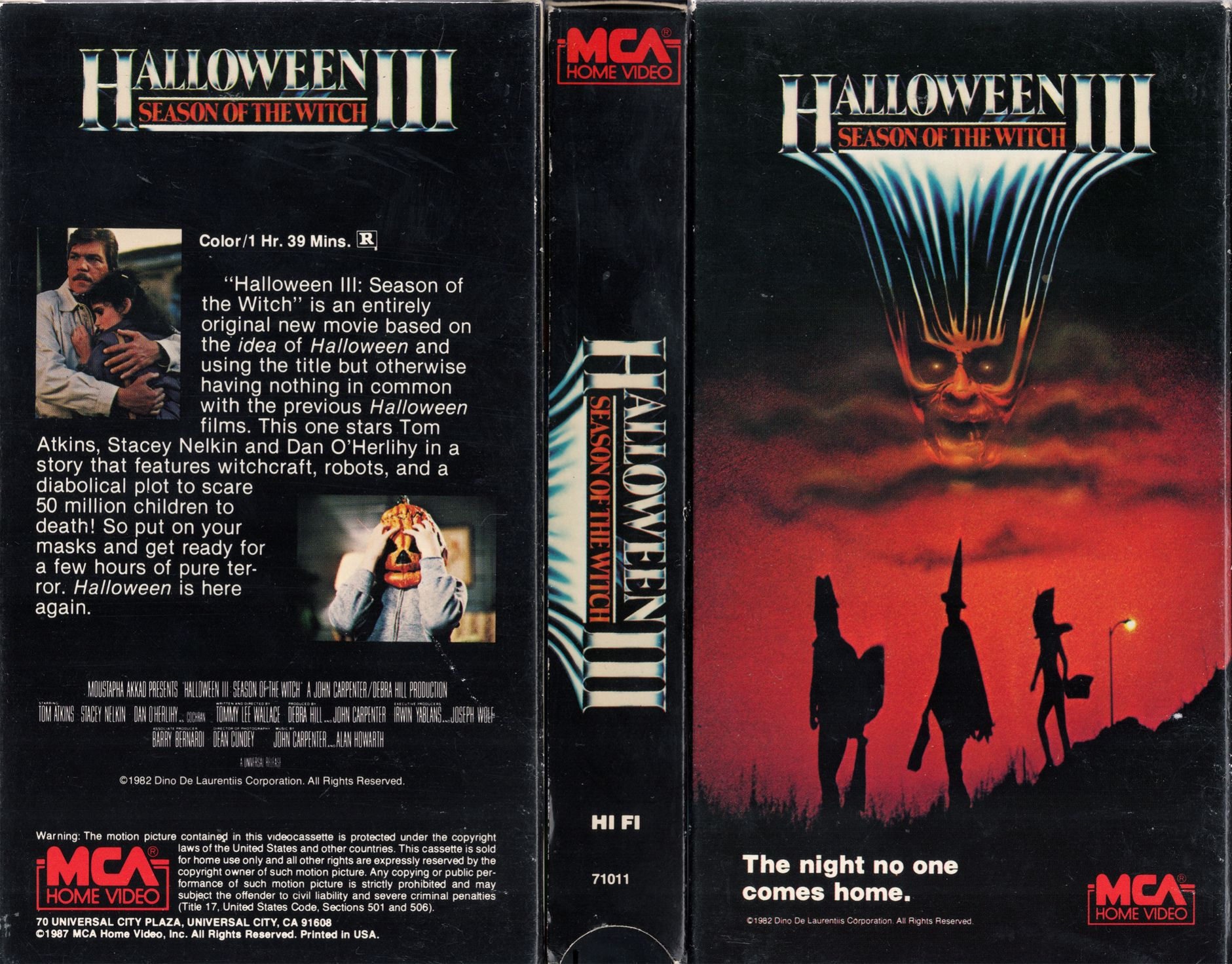Halloween III Season Of The Witch VHS Cover