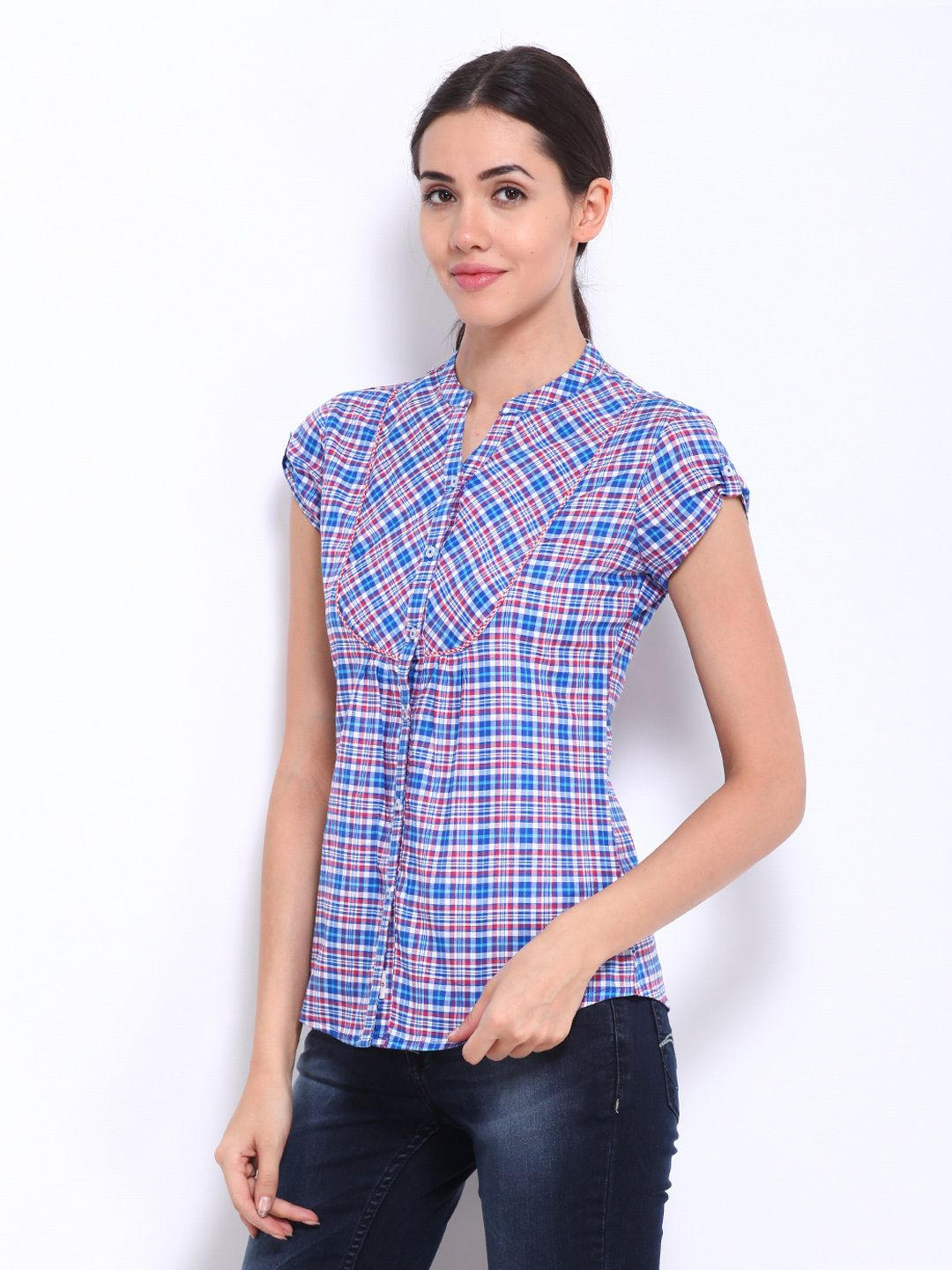 Pinterest Ofelia En Shirt Red Women Cooper Lee Checked Blue amp; 2018 wO6FSvq
