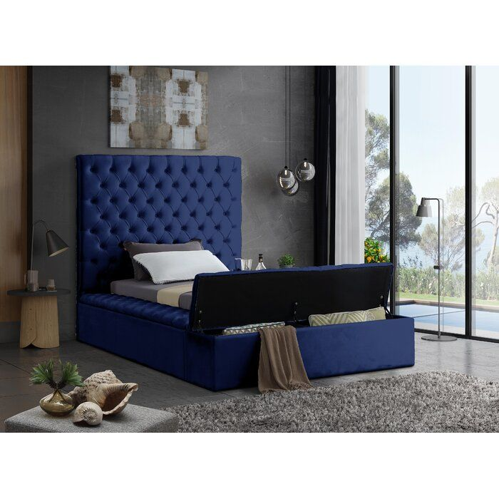Everly Quinn Ruthann Upholstered Storage Platform Bed Reviews Wayfair With Images Upholstered Storage Upholstered Panel Bed Twin Size Bedding