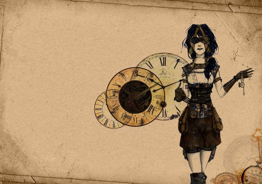Steampunk Girl Wallpaper by MsLive on deviantART Steampunky