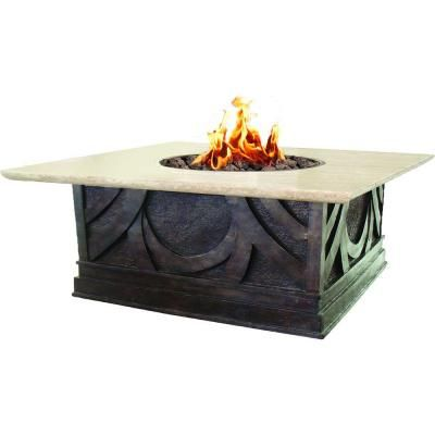 Square Envirostone And Marble Propane Fire Pit 66598