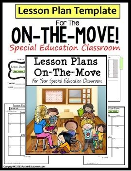 Special Education Lesson Plan Template Editable Cover Special