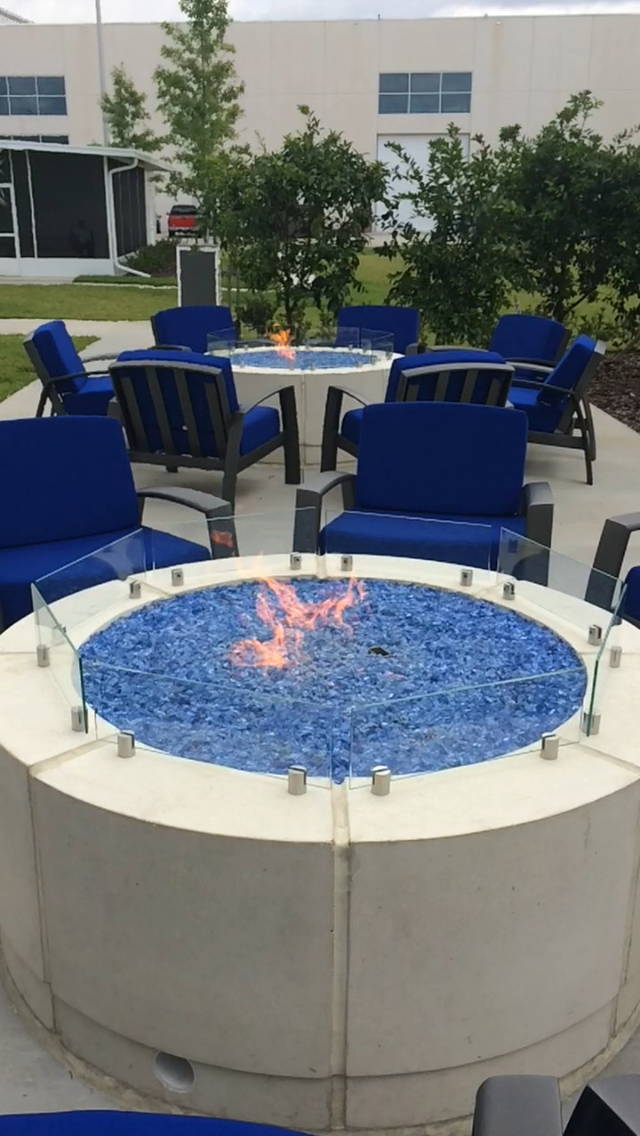 Two 55 Automated Grand Effects Fire Pits