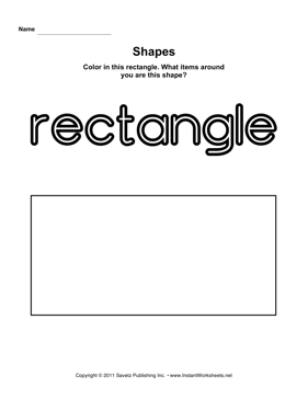 FREE Rectangle Worksheet - Color, Trace, Connect, & Draw!