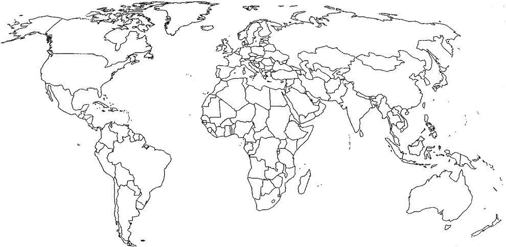 Cartina Asia Da Colorare.Mappamondo Da Colorare Per Bambini Con Disegno Di Cartina