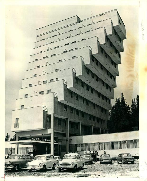 Panorama Hotel Ski Resort in Strbské Pleso, Slovakia (1970) by Zdenek Rihak
