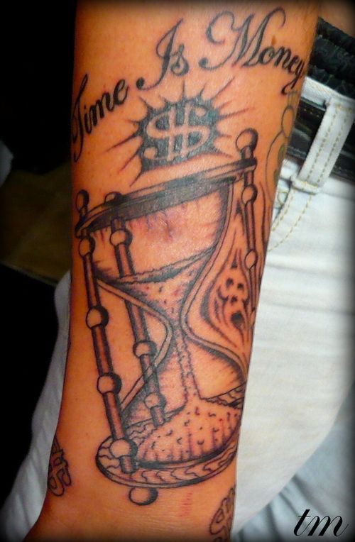 Time is money tattoo 39 s ive done by todd tat man williams for Time is money tattoo