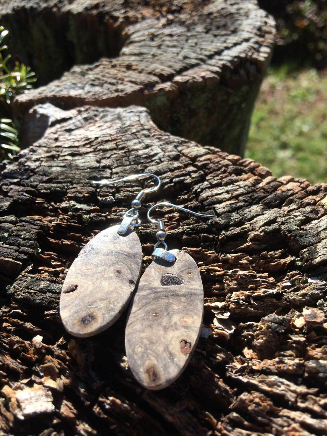20 Dollar Wood Earrings Made From Reclaimed Buckeye Burl by forestlifecreations on Etsy