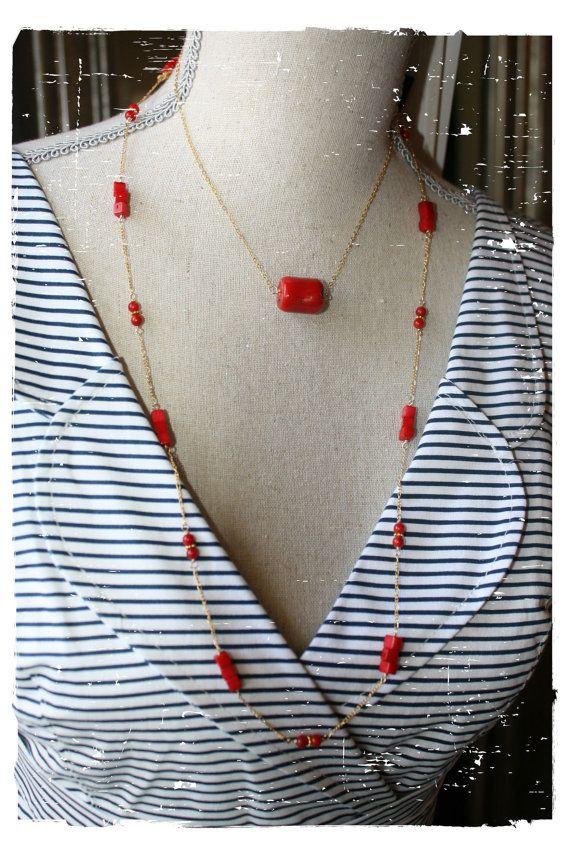 Barrel of Coral Necklace