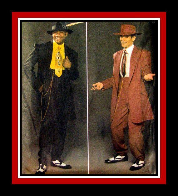 MENS ZOOT SUIT Costume Sewing Pattern Long by FarfallaDesignStudio ...