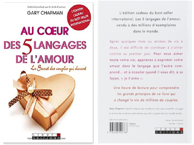Au Coeur Des 5 Langages De L Amour Vivre En Couple Amour Gary Chapman