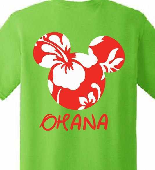 6cf5c2c2eb91ce Disney, Ohana< Hawaii, Customized Printed T-shirt Mickey Mouse Hawaii Family  Reunion Kids Birthday Personalized Family Trip Disney World by  ApolloUniforms ...