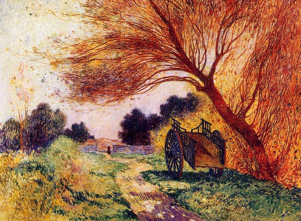 Ferdinand du Puigaudeau - Cart by the Path,1907-1915