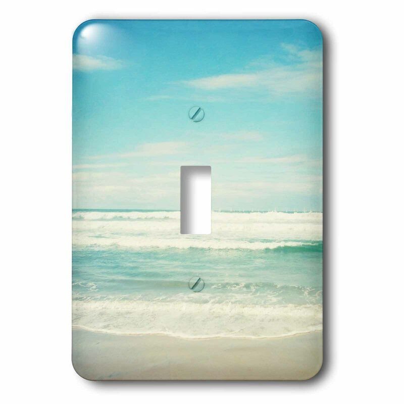 Ocean Waves Beach 1 Gang Toggle Light Switch Wall Plate Beach Themed Bedroom Beach Themed Room Beach Room Decor