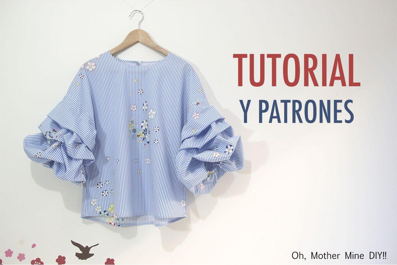 DIY Costura de blusa con mangas abullonadas (Patrones gratis) | OH ...