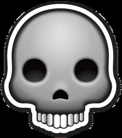 Skull Emojistickers Com Emoji Emoji Stickers Skull