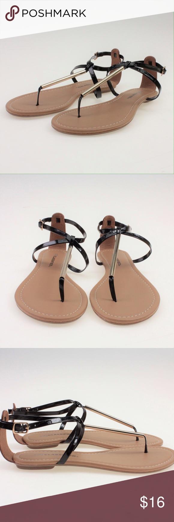 Black sandals gold bar - Black Gold Ankle Strap Sandals Boutique