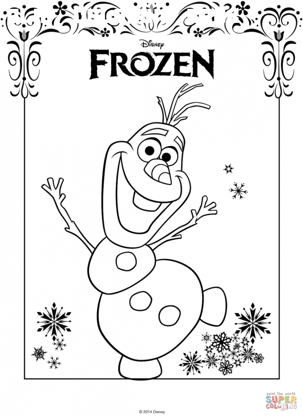 8 Olaf Coloring Book In
