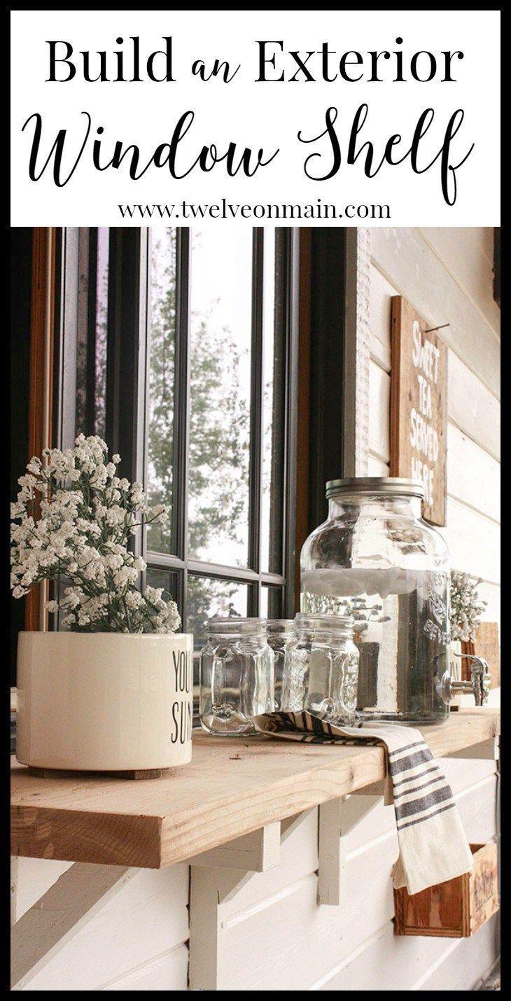 Build An Exterior Window Shelf Hometalk Spring