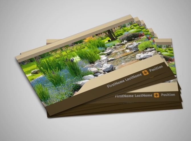 landscape design business card template business persona