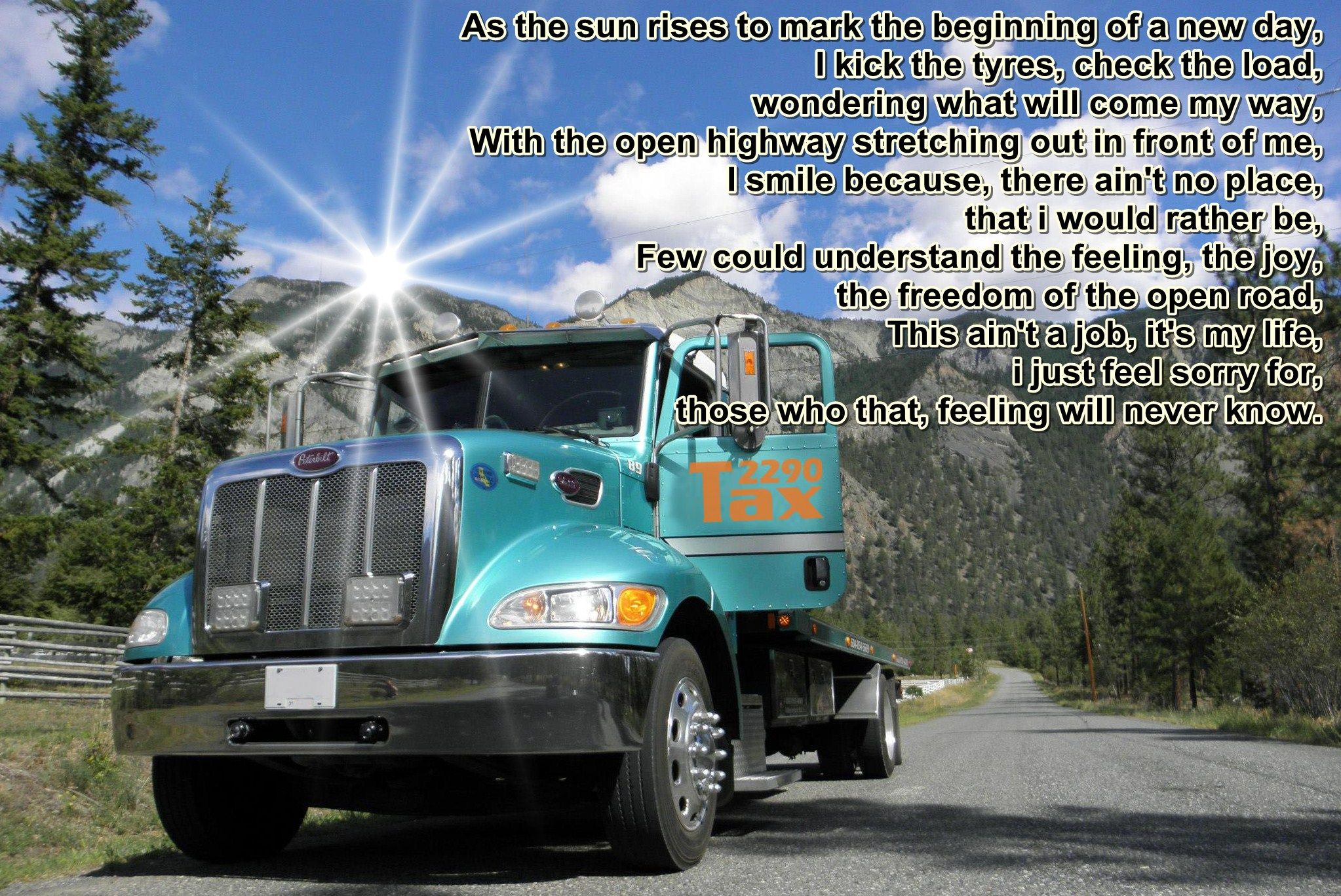 a truckers morning prayer