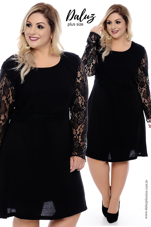 d9206262a Vestido Plus Size Rosalyn - Coleção Outono Inverno Plus Size -  daluzplussize.com.br