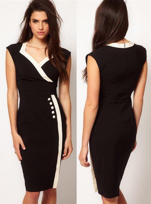 Office Ladies Wear Business Wear Elegant Formal Dress Free Shipping