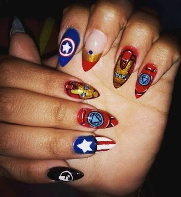 Inspired Infinity War Nail Art 2018 Avengers Nail Art Ideas Look