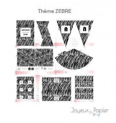 Kit A Imprimer Decoration De Fete Theme Zebre Faites Une Jolie