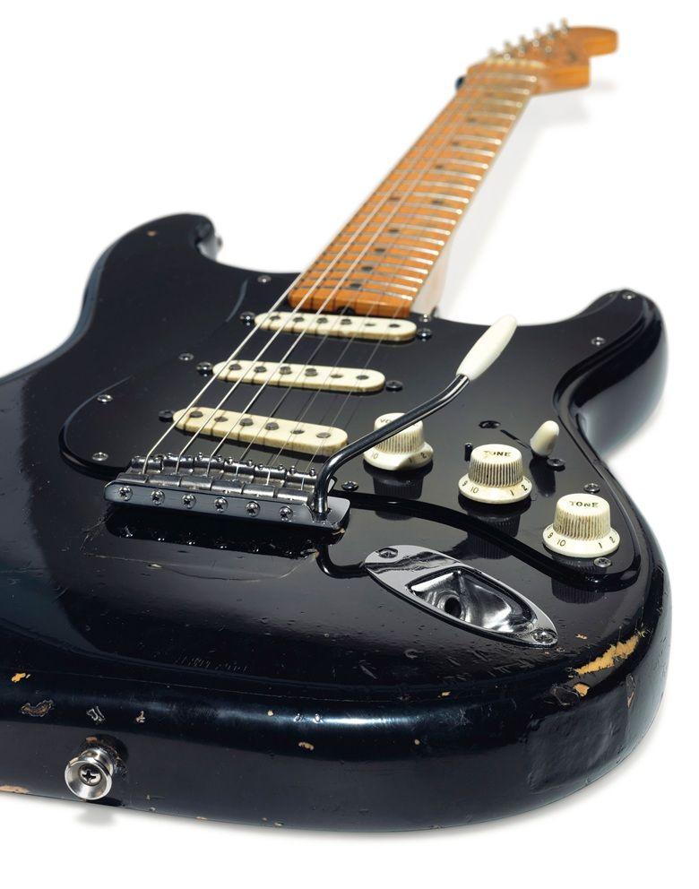 Mini Guitar Pink Floyd David Gilmour Collectible Fender Stratocaster Replica