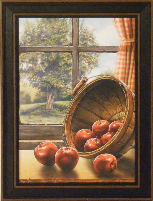 red delicious by doug knutson 12x16 apples bushel tree art print wall décor framed picture on kitchen decor paintings prints id=72981