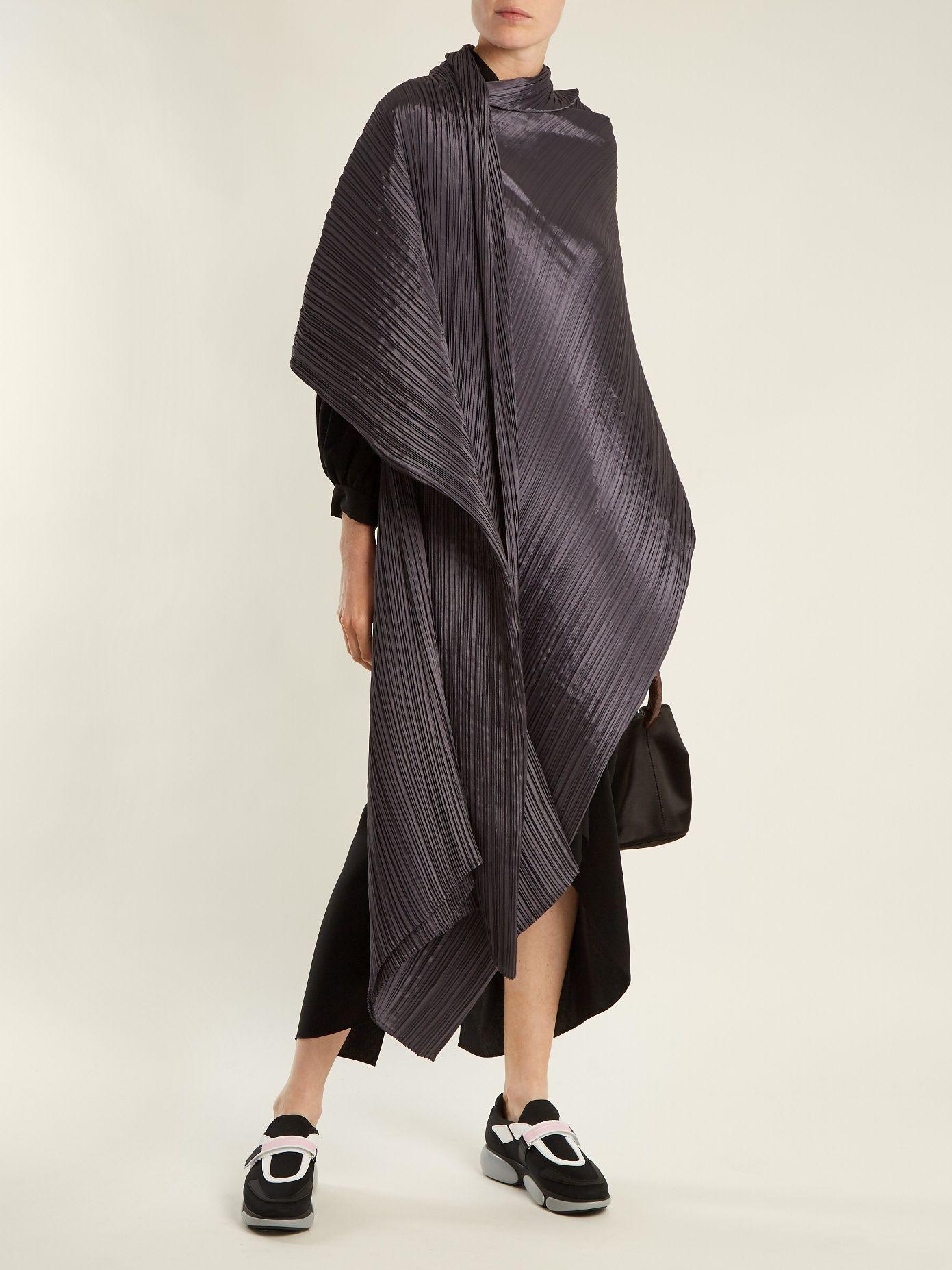 Madame T pleated scarf Pleats Please Issey Miyake obZ7y6brKq