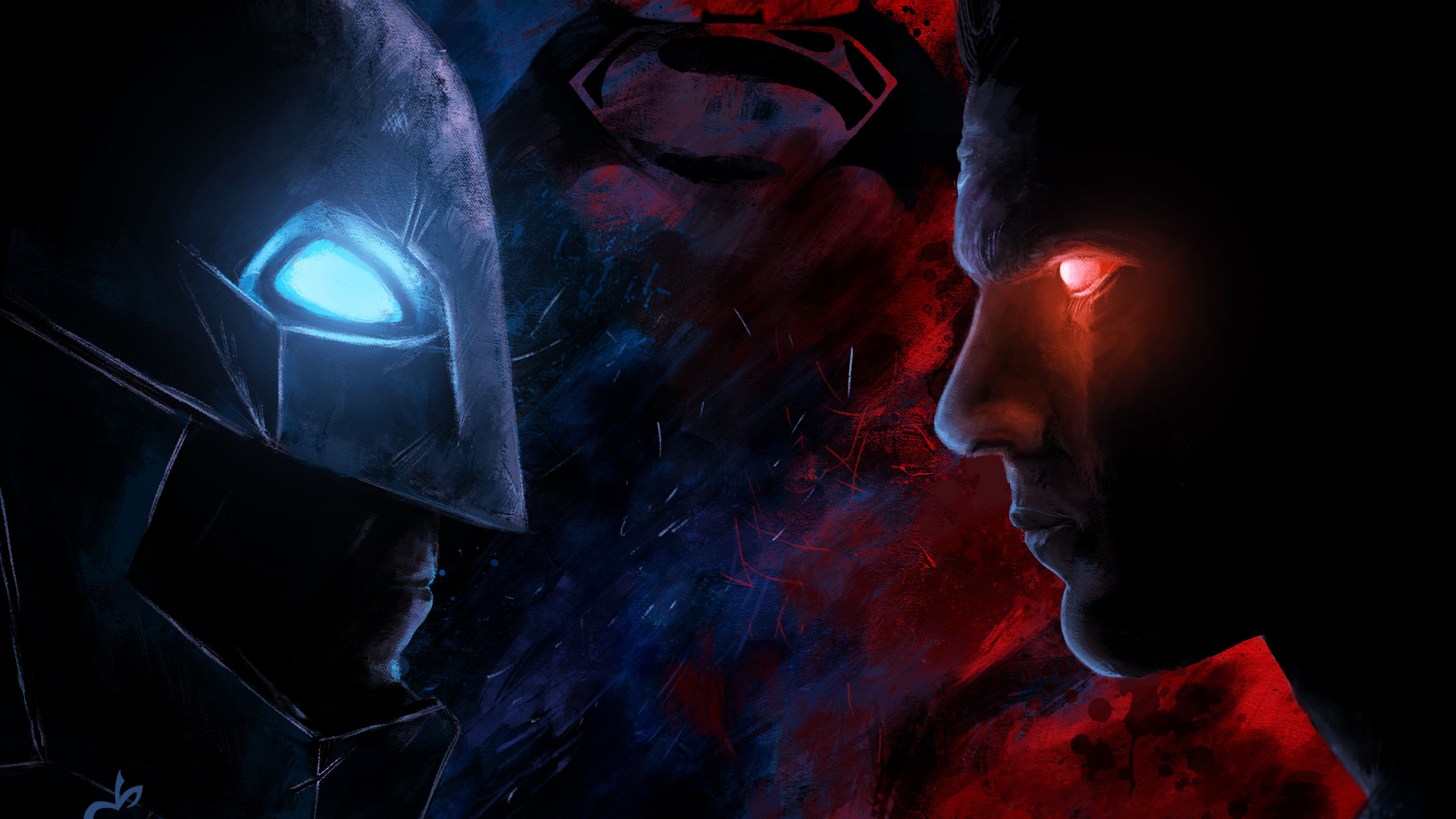 Batman Vs Superman Paint Artwork 4k Superman Wallpapers
